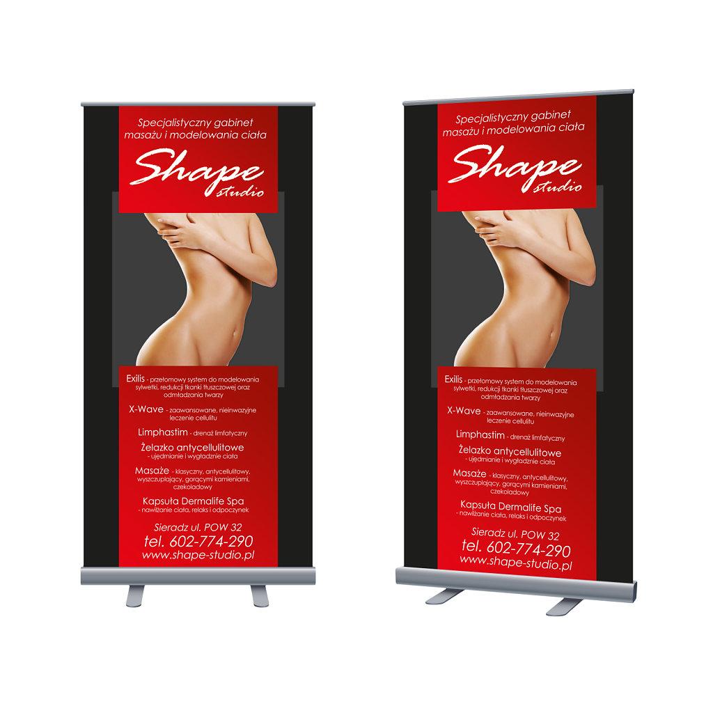 Roll Up Shap Studio 100x200
