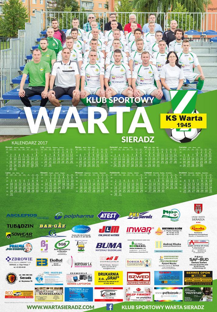 Kalendarz dla KS Warta Sieradz 2017